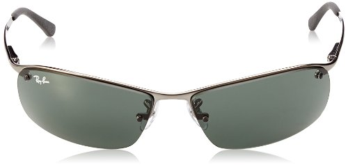 Amazon.com: Ray-Ban Men's Rb3183 Rectangular Sunglasses, Gunmetal, 63 mm:  Ray-Ban: Clothing