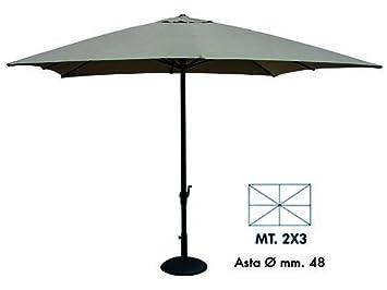 Amazon De Vette Cdf00909 Sonnenschirm Mit Kurbel Rechteckig