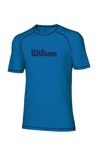 Wilson Herren Tennis Shirt Tee blau