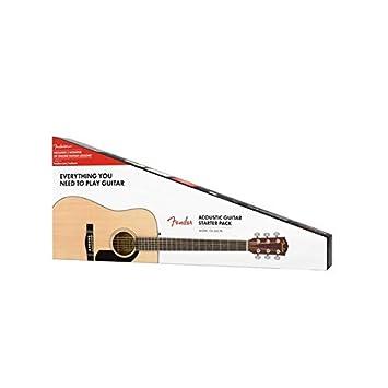 Fender CC-60S Beginner Concert Pack, Black with Gig Bag, Strap, Picks, Strings, and Fender Play 970150406