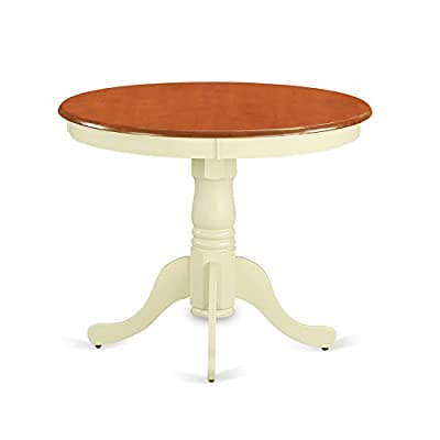 East West Furniture ANT-BLK-T Round Table