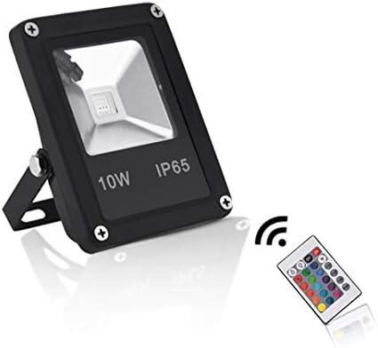 Sararoom 10W RGB Foco LED,16 Colores Proyector LED,4 Modos,IP65 ...
