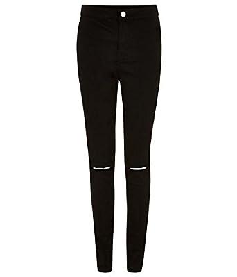 weltweit bekannt 2019 professionell Sonderkauf Schwarze Damen Knie Zerrissene Jeans Disco: Amazon.de ...
