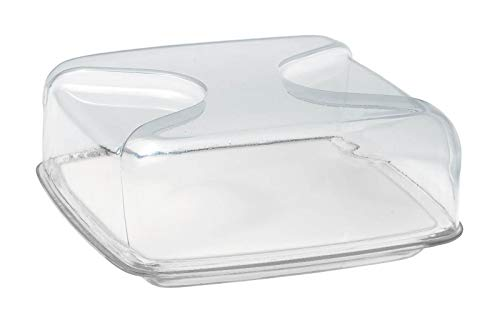 (Guzzini Square cheese dish set: tray, procelain chopping board and cover, 9.9
