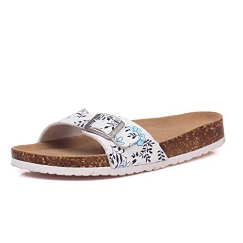 Womens YaMiFan Sandals Mixed 19 Flats Cork Slippers Slides Flop Casual Color Flip pBqxdaBCw