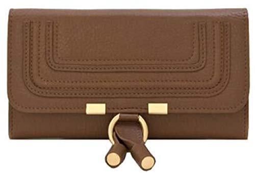 Lush Leather Horseshoe Continental Camel Wallet ()