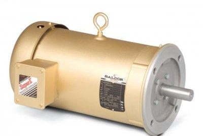 Baldor Electric, VM3534.33HP, 1725RPM, 3PH, 460V;230V, 56C Frame, C-Face Flange, Footless, TEFC, General Purpose Motor ()