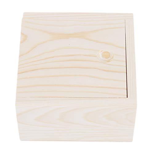 lehao Unique Wooden Jewelry Box with Slide Top Trinket Box Multipurpose Keepsake Storage Classic Boxes Handmade Wooden Box