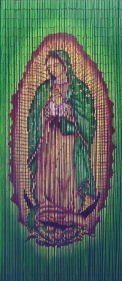 ABeadedCurtain 125 String Virgin Mary Beaded Curtain Handmade with 4000 Beads (+Hanging Hardware) 38% More Strands and Beads