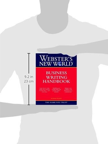 WEBSTER'S NEW WORLD BUSINESS WRITING HANDBOOK (Webster's New World Handbooks) by Brand: Webster's New World