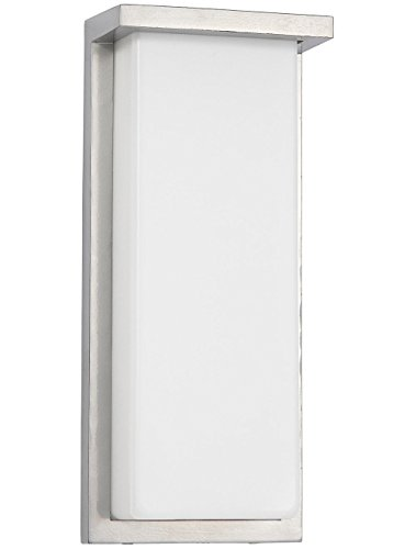 Flush Mount Modern Outdoor Wall Sconce | Squared 14