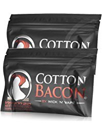 2 Pack Bacon - Cotton Bacon Organic Muscle Cotton for DIY Project (2-pack)