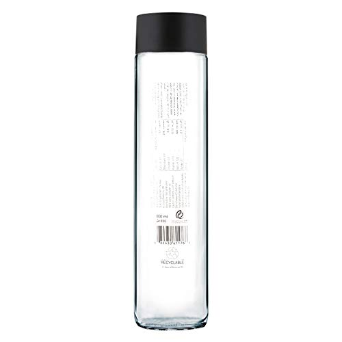 800 ml 27.05 ounce Arts /& Crafts EMPTY 2 VOSS Water Glass Bottle Clear Glass