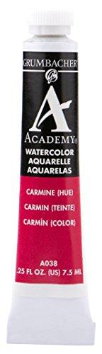 Grumbacher Academy Watercolor Paint, 7.5ml/0.25 Ounce, Carmine Hue (A038)