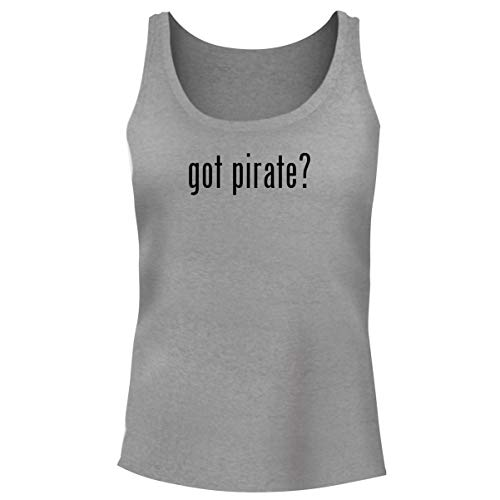 One Legging it Around got Pirate? - Women's Funny Soft Tank Top, Heather, X-Large ()