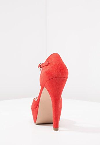 Tacco alla Blocco da Tacco e col Even con Tacchi Tacco Sera Tacchi Alto a 12 amp;ODD Alti Rosso cm da Eleganti Cinturino Caviglia Donna Scarpe w0zw67q