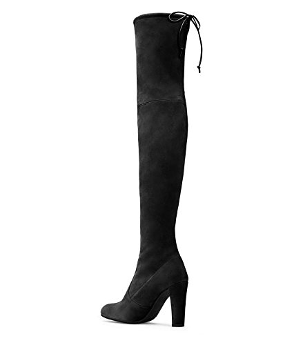 Stuart Weitzman Botas de Highland Over-The-Knee para mujer Black Suede