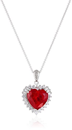 Sterling-Silver-Created-Ruby-with-Created-White-Sapphire-Round-and-Baguette-Diamond-Heart-Pendant-Necklace-18