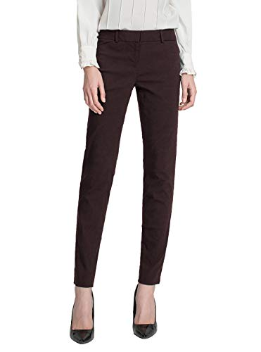 SATINATO Women's Stretchy Trousers All Day Relax-Fit Pants (2, Brown)