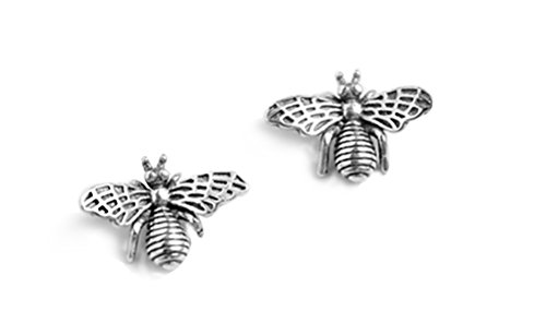 925 Sterling Silver Cute Bee Earrings Studs for Women Teen Girls Animal Earrings FarryDream (Silver Sterling 925 Honey)