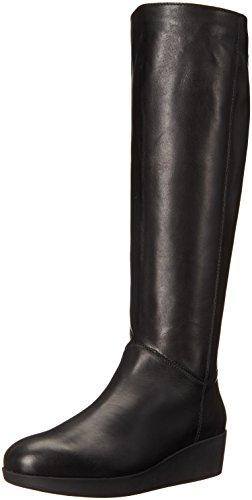 Johnston & Murphy Womens Darcy Rain Boot Black Leather gJQItw35r