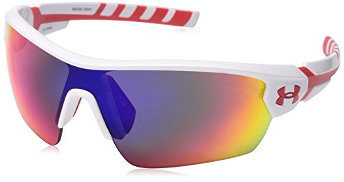 Under Armour Igniter - Under Armour 8600090-106451 Rival Shield Sunglasses, 42mm - Shiny White/Red