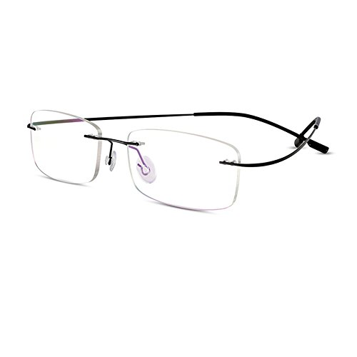 Bertha Titanium Alloy Flexible Lightweight Rimless Frame Prescription Eyeglasses 105 - Eyeglasses Flexible Frames