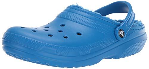 Crocs Men's and Women's Classic Lined Clog   Indoor and Outdoor Fuzzy Slipper