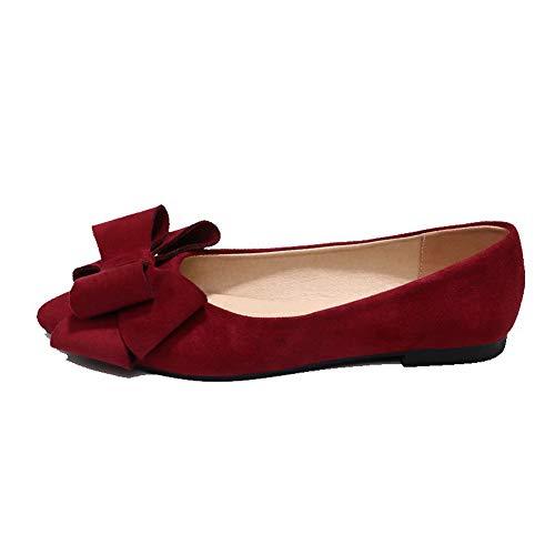 De Tacón Agoolar Mini Gmxda010703 Tacón Sin Mujeres Zapatos Cordones Rojo Sólido 40q4xwpf