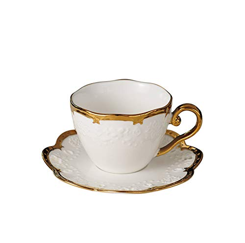 - FAT BIG CAT Nordic Style Elegant Coffee Cups and Saucers Handmade Ins Golden Milk Cup Set Home Afternoon Tea Milk Cup Set, C