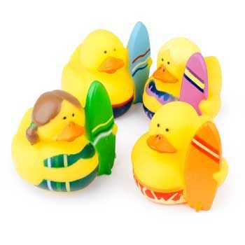 Fun Express Set of 12 ~ Surfer Rubber Ducks by OTC