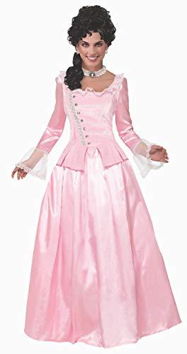 Forum Novelties Colonial Maiden Corset-Style Dress, Pink, ()