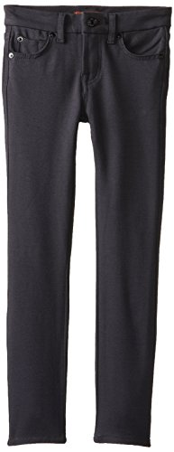 7 For All Mankind Big Girls' The Skinny Double Knit Pant, Black, (Double Knit Skinny Pants)