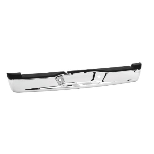 Westin Fey 31014 Perfect Match Custom Fit Replacement Rear Bumper with Mounting Brackets, Chrome