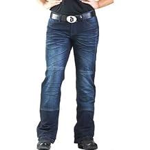 Drayko Drift Riding Jeans Women's Denim Sports Bike Motorcycle Pants - Indigo / Size 8 by Drayko