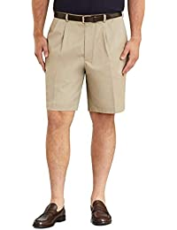 Men's 30279 Pleated Front Light Weight Chino Shorts, Khaki