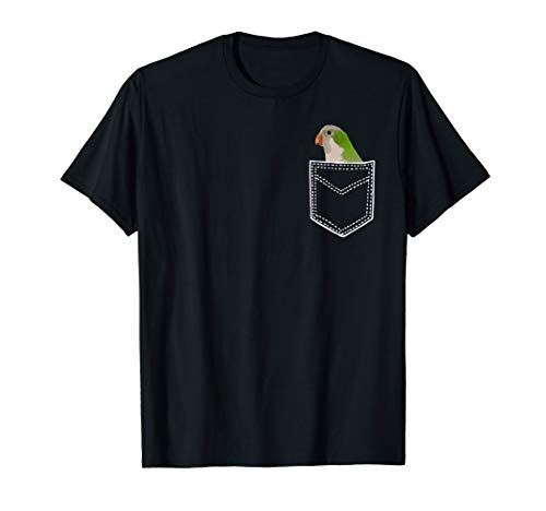Quaker Parrot Shirt, Funny Pocket Quaker T-Shirt (Quaker Shop)