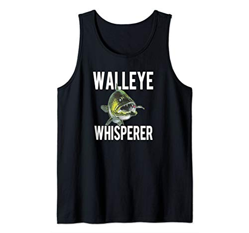 Walleye Whisperer Fishing Jigs Lures Tackle New Pro Walleye Tank Top