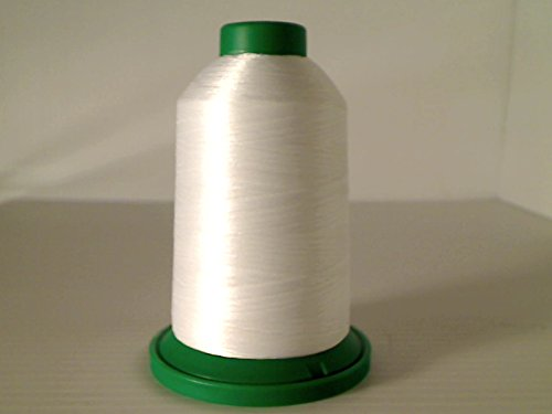 Isacord Embroidery Thread, White Thread 5000M color 0015 ()