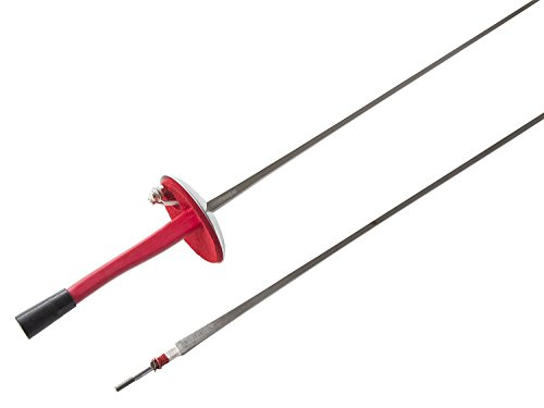 - American Fencing Gear Fencing Foil Electric Sword Weapon National Grade with 1 Guard, 1 Guard Pad and 1 Two-Prong Socket - Includes 1 Spare Blade - Size 5 (French Grip, Right)