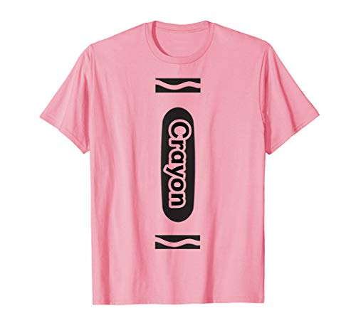 Pink Crayon Tshirt Halloween Group Costume Easy DIY Funny -