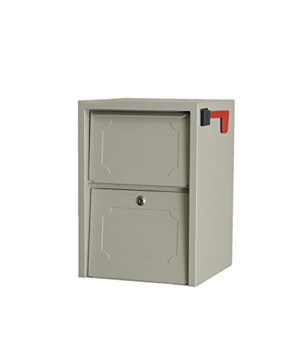 dVault Weekend Away Vault DVJR0060 Locking Post/Column Mount Mailbox (Sand) Mount Mailbox Sand