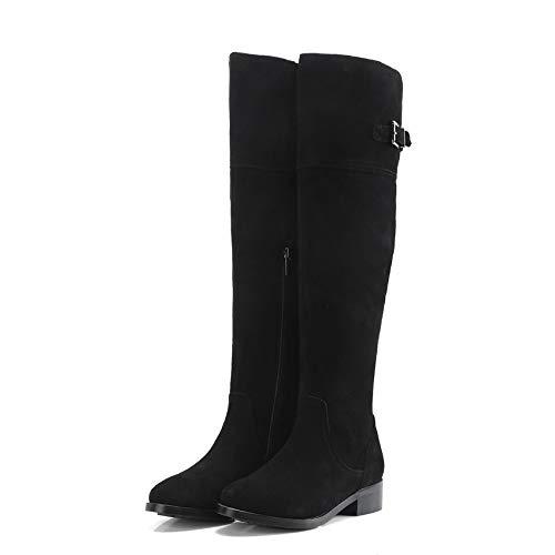 HAOLIEQUAN Platz Ferse Mode Frauen Schuhe Platofrm Runder Alle Spiel Winter Stiefel Alle Passen Stiefel Größe 34-40