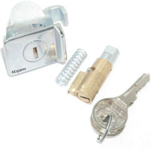 AEspares Vespa Steering Lock & Tool Box Lock with 2 Common Keys Rally Sprint PX Model