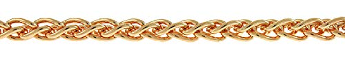 Chain Platinum Wheat Solid - 14k Rose Gold 2.5mm Wheat Chain Necklace - 30