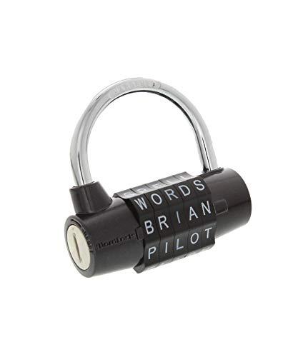 Wordlock PL-004-BK 5-Dial Combination Padlock, Black (5 Letter Word For Best)