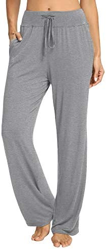 PACBREEZE Women's Loose Yoga Pajama Pants Wide Straight-Leg Casual Workout Running Sporting Active Pants with Pockets 1