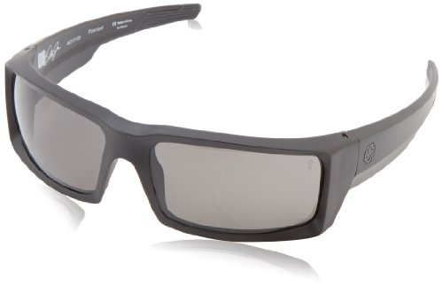 Spy Optics General Matte Black Wrap Polarized Sunglasses,Black,66 (Spy Optic Metal)