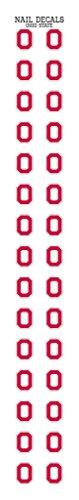 Ohio State University Nail Sticker Decals