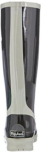 Donna 796 Schwarz Nero Stivaletti Gummistiefel Grau Damen Playshoes Uni Schwarz BzqIxA